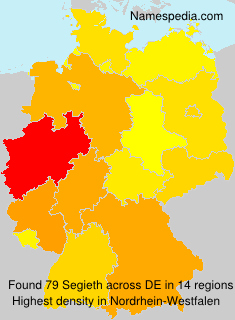 Surname Segieth in Germany