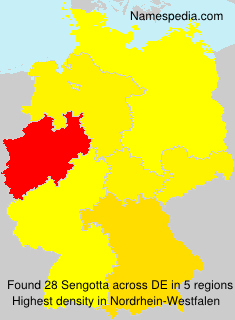 Surname Sengotta in Germany