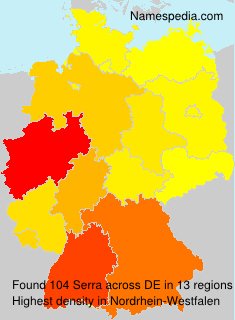 Surname Serra in Germany