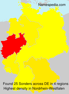 Surname Sonders in Germany