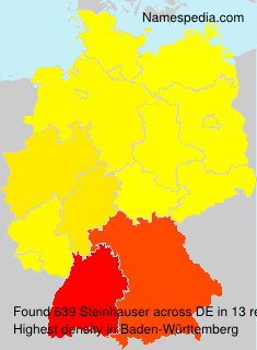 Surname Steinhauser in Germany