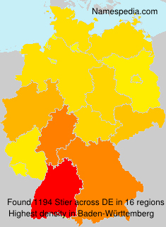 Surname Stier in Germany