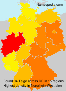 Surname Teige in Germany