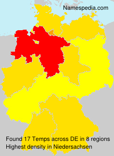 Surname Temps in Germany