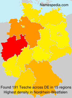 Surname Tesche in Germany