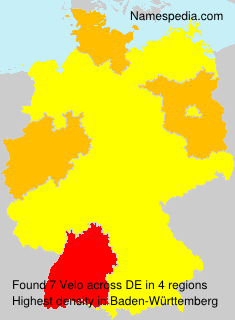 Surname Velo in Germany