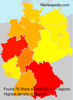 Surname Ward in Germany
