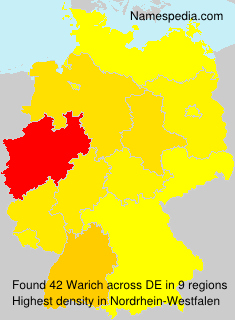 Surname Warich in Germany