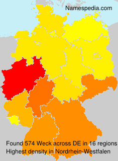 Surname Weck in Germany