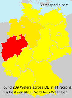 Surname Wefers in Germany