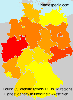 Surname Wehlitz in Germany