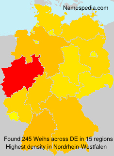 Surname Weihs in Germany
