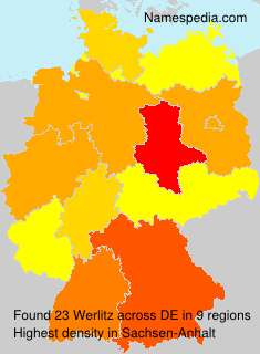 Surname Werlitz in Germany