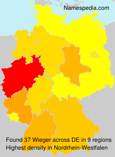 Surname Wieger in Germany