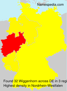Surname Wiggenhorn in Germany