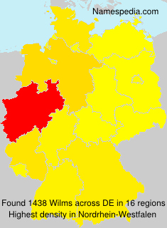 Surname Wilms in Germany