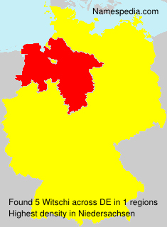 Surname Witschi in Germany