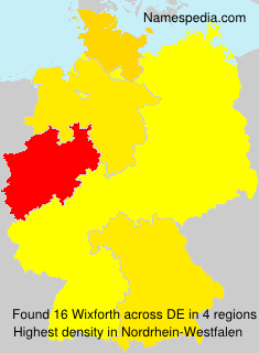 Surname Wixforth in Germany