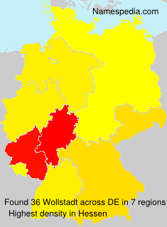 Surname Wollstadt in Germany