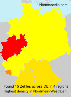 Surname Zehles in Germany