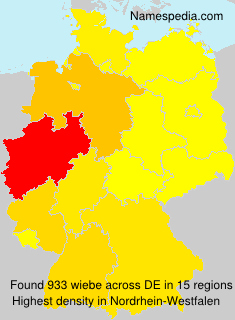 Surname wiebe in Germany