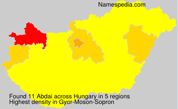 Surname Abdai in Hungary