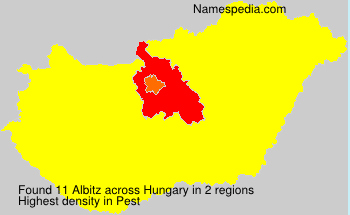 Surname Albitz in Hungary