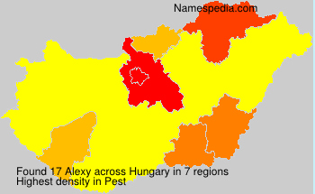 Surname Alexy in Hungary
