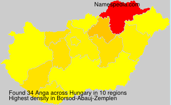Surname Anga in Hungary