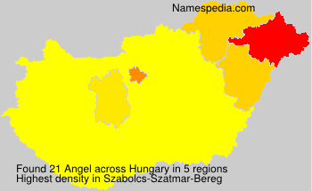 Surname Angel in Hungary