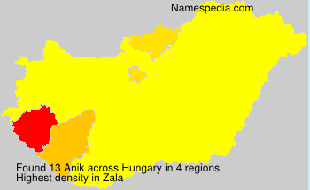 Surname Anik in Hungary