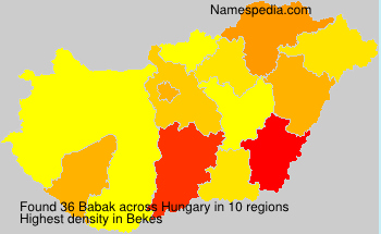 Surname Babak in Hungary