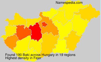 Surname Baki in Hungary