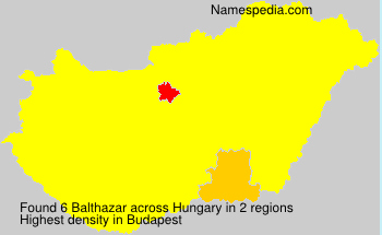 Surname Balthazar in Hungary