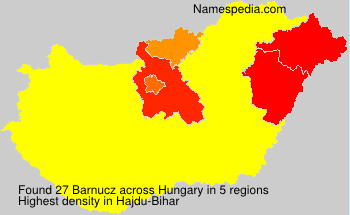 Surname Barnucz in Hungary