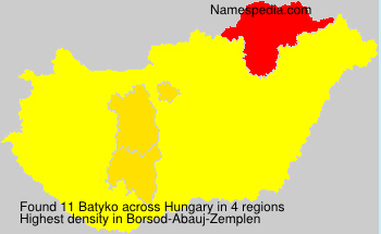 Surname Batyko in Hungary