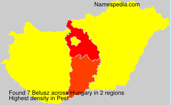 Surname Belusz in Hungary