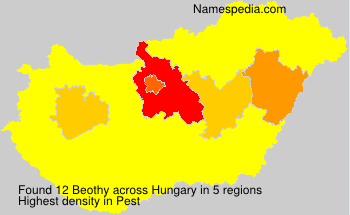 Surname Beothy in Hungary