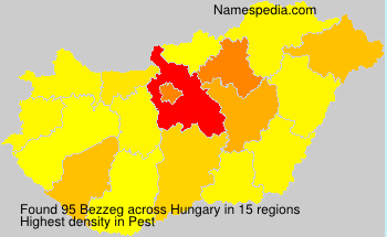 Surname Bezzeg in Hungary
