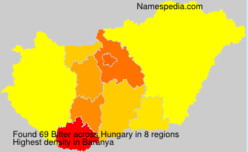 Surname Bitter in Hungary