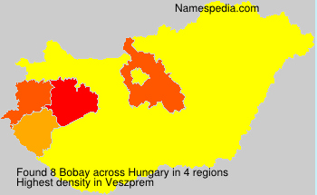 Surname Bobay in Hungary