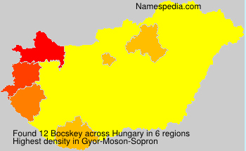 Surname Bocskey in Hungary