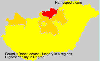 Surname Bohati in Hungary