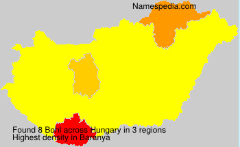 Surname Bohl in Hungary