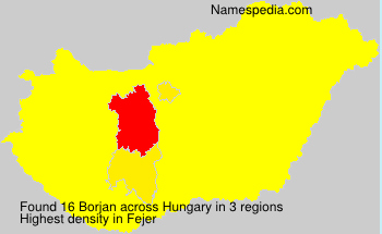Surname Borjan in Hungary
