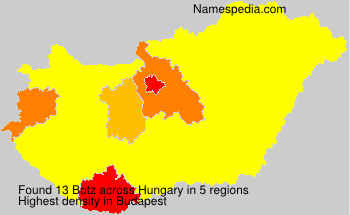 Surname Botz in Hungary