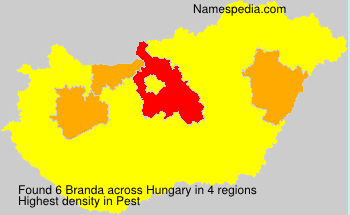 Surname Branda in Hungary