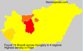 Surname Brandl in Hungary
