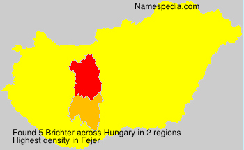 Surname Brichter in Hungary
