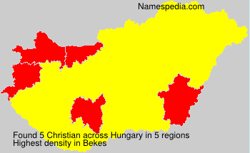 Surname Christian in Hungary